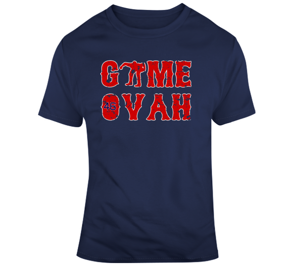 Craig Kimbrel Closer Game Ovah Boston Baseball Distressed T Shirt