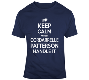 Cordarrelle Patterson Keep Calm New England Football Fan T Shirt