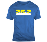Boston Marathon inspired 26.2 miles City Skyline T Shirt