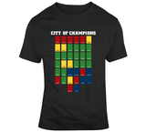 City Of Champions Banner City Boston Fan Champion Fan T Shirt