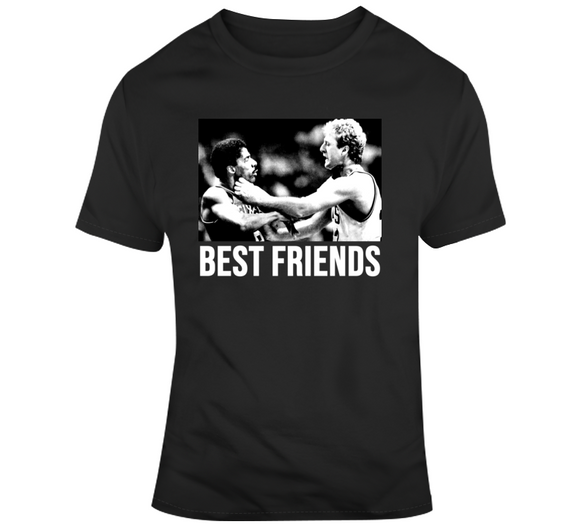 Larry Bird And Dr J Best Friends Boston Basketball Fan T Shirt