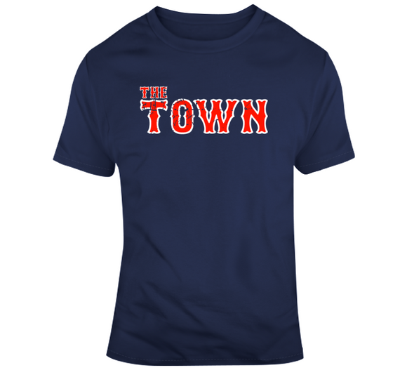 The Town Boston Baseball Fan Distressed  T Shirt