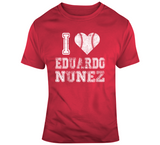 Eduardo Nunez I Heart Boston Baseball Fan T Shirt