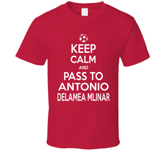 Antonio Delamea Mlinar Keep Calm Pass To New England Soccer T Shirt