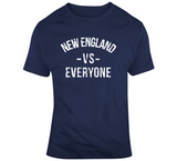 Dynasty New England Vs Everyone New England Football Fan Navy T Shirt