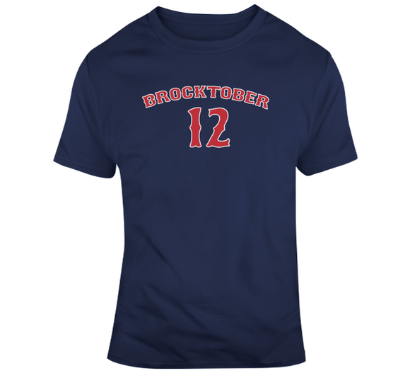 Brock Holt Brocktober 12 Boston Baseball Fan T Shirt