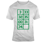 Paul Pierce The Truth 34 Retired Numbers Boston Basketball Fan T Shirt