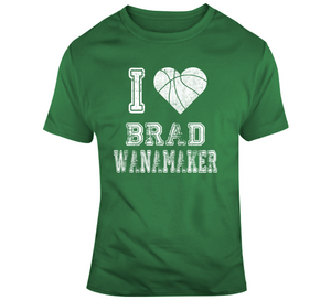 Brad Wanamaker I Heart Boston Basketball Fan T Shirt