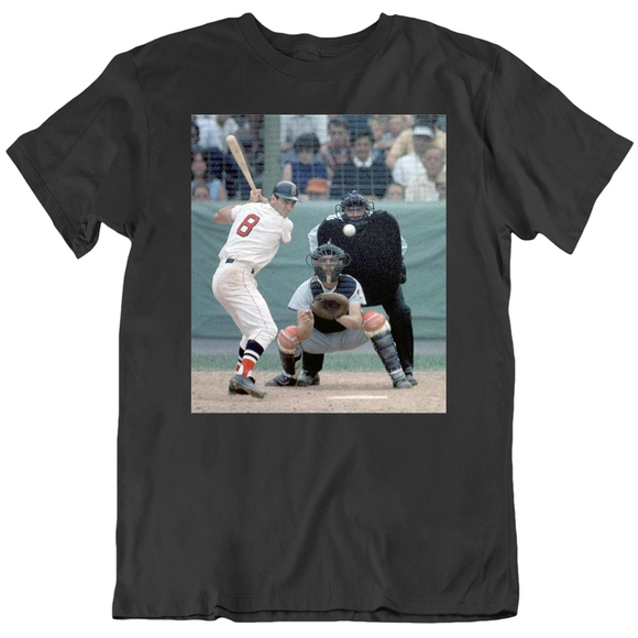 Carl Yastrzemski At Bat Legend Boston Baseball Fan V2 T Shirt