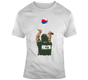 Larry Bird 3 Point Contest Boston Basketball 8 Bit Fan V3 T Shirt