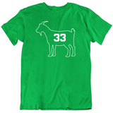 Larry Bird Goat 33 Outline Boston Basketball Fan T Shirt