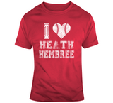 Heath Hembree I Heart Boston Baseball Fan T Shirt