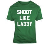 Larry Bird Shoot Like Larry Boston Basketball Fan T Shirt