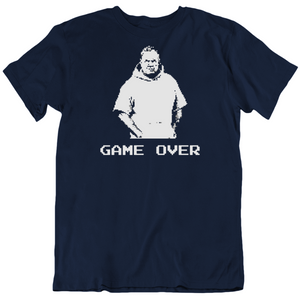 Bill Belichick Game Over New England Football Fan Pixelated T Shirt