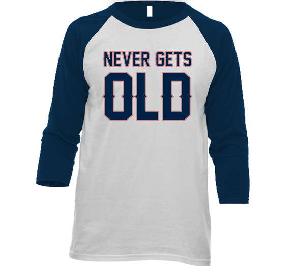 Never Gets Old New England Football Fan T Shirt
