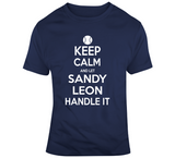 Sandy Leon Keep Calm Boston Baseball Fan T Shirt