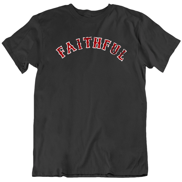 Boston Faithful Baseball Fan Distressed V2 T Shirt