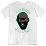 Tacko Fall It's Tacko Fall Day Taco Tuesday Funny Boston Basketball Fan White T Shirt