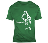 Larry Bird Silhouette Legend Boston Basketball Fan V2 T Shirt