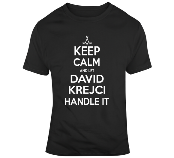 David Krejci Keep Calm Boston Hockey Fan T Shirt