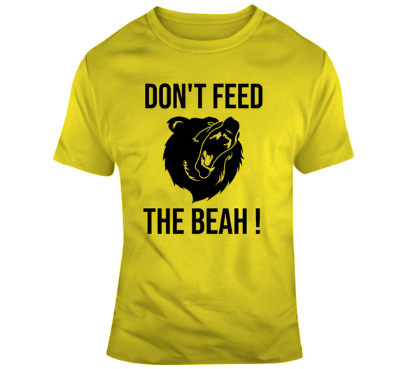 Dont Feed The Bear Boston Hockey Fan T Shirt