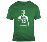 Larry Bird The Legend Boston Basketball Fan Silhouette T Shirt