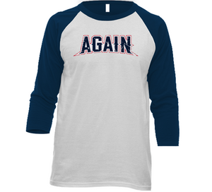 New England Football Team Champs Again Distressed T Shirt