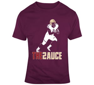 AJ Dillon Boston College Football Fan The Sauce T Shirt