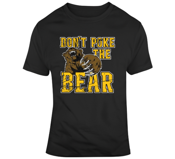 Dont Poke The Bear Boston Hockey Fan Distressed T Shirt
