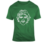 Larry Bird Legend Sketch Boston Basketball Fan T Shirt