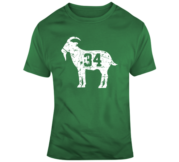 Paul Pierce The Truth 34 GOAT Distressed Boston Basketball T Shirt