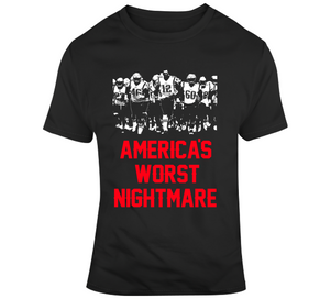 America's Worst Nightmare New England Football Fan T Shirt