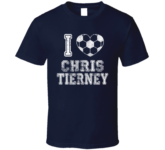 Chris Tierney I Heart New England Soccer T Shirt