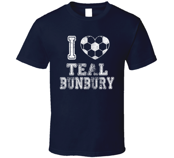 Teal Bunbury I Heart New England Soccer T Shirt