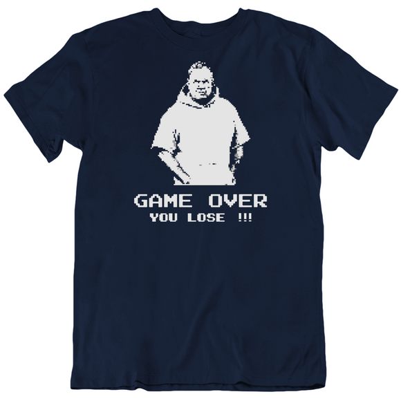 Bill Belichick Game Over New England Football Fan Pixelated V2 T Shirt