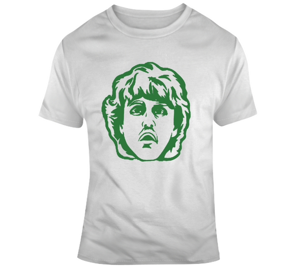 Larry Bird Caricature Big Head Silhouette Boston Basketball T Shirt