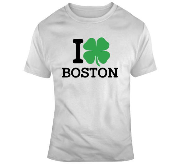I Love Boston St Pat's T Shirt
