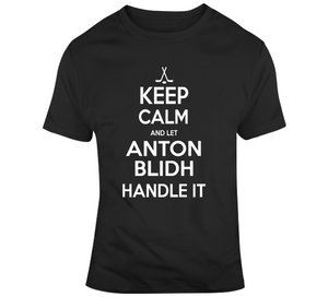 Anton Blidh Keep Calm Boston Hockey Fan T Shirt
