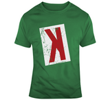 Backwards K Strikeout Distressed Boston Baseball Fan T Shirt