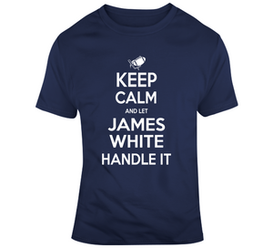 James White Keep Calm New England Football Fan T Shirt