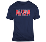 Defend The East Boston Baseball Fan Distressed T Shirt