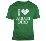 Jabari Bird I Heart Boston Basketball Fan T Shirt