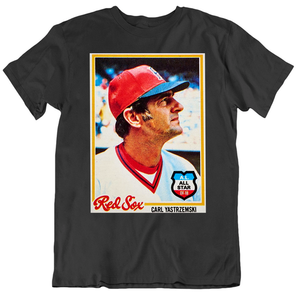 Carl Yastrzemski Boston Baseball Card Fan V3 T Shirt