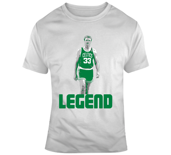 Larry Bird Legend GOAT Boston Basketball Fan T Shirt