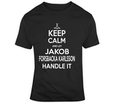 Jakob Forsbacka Karlsson Keep Calm Boston Hockey Fan T Shirt