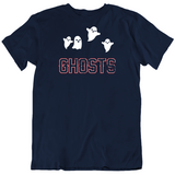 Ghosts New England Defense Football Fan Distressed T Shirt