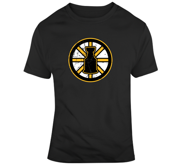 We Want The Cup Boston Hockey Fan distressed T Shirt