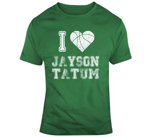 Jayson Tatum I Heart Boston Basketball Fan T Shirt