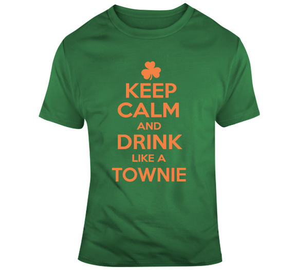 Keep Calm Townie St Pat's T Shirt