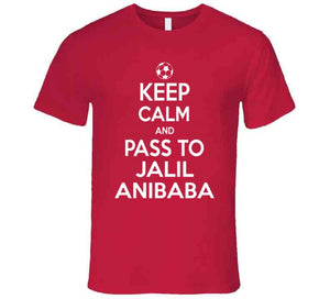 Jalil Anibaba Keep Calm Pass To New England Soccer T Shirt